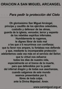 Oración para pedir la protección del Cielo